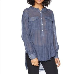 🍃Free People Pretty Sheer Button Up Shirt-Small🍃